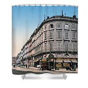 Bordeaux - France - Rue Chapeau Rouge From The Palace Richelieu Shower Curtain by International  Images