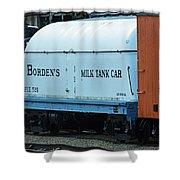 Bordens Milk Tank Car Shower Curtain