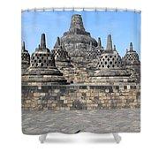 Borobudur Mahayana Buddhist Monument Shower Curtain