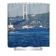 Bosphorus Traffic Shower Curtain