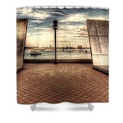 Boston - David Von Schlegell - Untiltled Shower Curtain