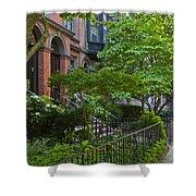 Boston Beacon Hill Street Scenery Shower Curtain