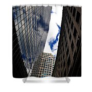 Boston Blue Sky And Stone Shower Curtain