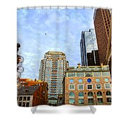 Boston Downtown Shower Curtain by Elena Elisseeva
