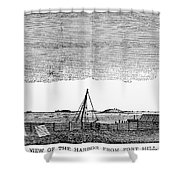 Boston Harbor, 1776 Shower Curtain