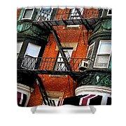 Boston House Fragment Shower Curtain by Elena Elisseeva
