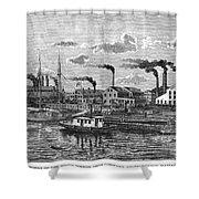 Boston: Iron Foundry, 1876 Shower Curtain