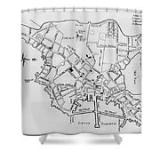 Boston: Map, 1770 Shower Curtain