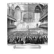 Boston: Music Hall, 1856 Shower Curtain