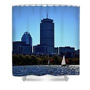 Boston Skyline 2 Shower Curtain