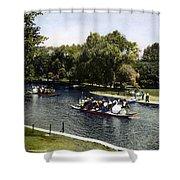 Boston: Swan Boats, C1900 Shower Curtain