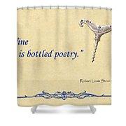 Bottled Poetry Shower Curtain