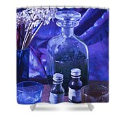 Bottles Of Perfume Essence  Shower Curtain