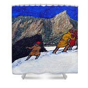 Boulder Christmas Shower Curtain