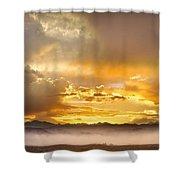 Boulder Colorado Flagstaff Fire Sunset View Shower Curtain