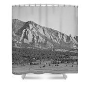 Boulder Colorado Flatiron Scenic View With Ncar Bw Shower Curtain