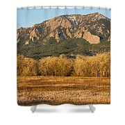 Boulder Colorado Flatiron View From Jay Rd Shower Curtain