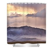 Boulder Colorado Flatirons And The Flagstaff Fire Shower Curtain