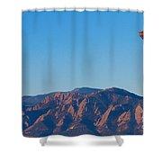 Boulder Colorado Flatirons Hot Air Balloon View Shower Curtain