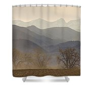 Boulder County Colorado Layers Panorama Shower Curtain