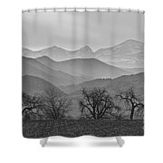 Boulder County Layers Bw Shower Curtain