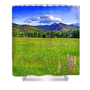 Boulder Park View Shower Curtain