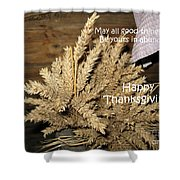 Bounty. Thanksgiving Greeting Card Shower Curtain