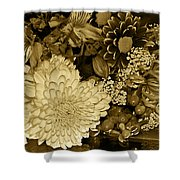 Bouquet In Sepia Shower Curtain