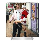 Bourbon Street In Daylight - Santa's Helper Shower Curtain