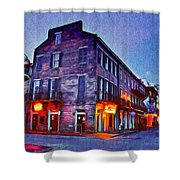 Bourbon Street In The Quiet Hours Shower Curtain