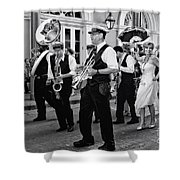 Bourbon Street Second Line Wedding New Orleans In Black And White Shower Curtain