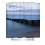 Bournemouth Beach At Sunset Shower Curtain
