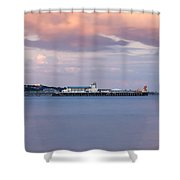 Bournemouth Pier At Sunset Shower Curtain