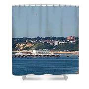 Bournemouth Pier In Dorset Shower Curtain