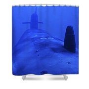 Bow View Of The Uss Kamehameha Shower Curtain by Michael Wood