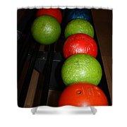 Bowling Balls Shower Curtain