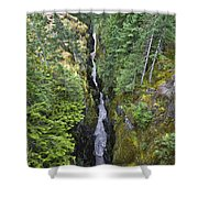 Box Canyon With Flowing Stream, Mount Shower Curtain