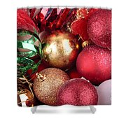Box Of Christmas Decorations  Shower Curtain