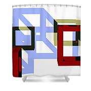 Boxed In Shower Curtain
