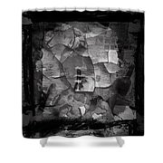 Boxed Note Shower Curtain