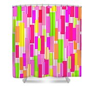Boxed Stripe Shower Curtain