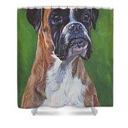 Boxer Shower Curtain by Lee Ann Shepard