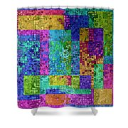 Boxes Boxes Boxes II Shower Curtain