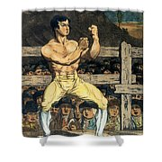 Boxing Champion, 1790s Shower Curtain