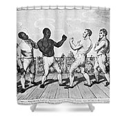 Boxing: Cribb V. Molineaux Shower Curtain