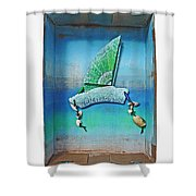 Boxing The Compass Shower Curtain