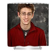 Boy Seen In Visible Light Shower Curtain