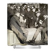 Boys Playing Poker, 1909 Shower Curtain