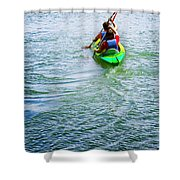 Boys Rowing Shower Curtain