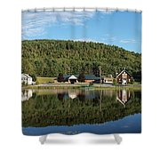 Brant Lake Reflections Shower Curtain